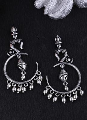 Aarambh Shankh Hoop Earrings