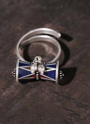 Moksha Damru Adjustable Ring