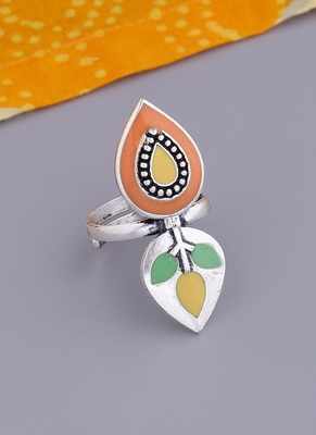 Bagh E Fiza Leaves Adjustable Ring