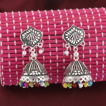 Shimmering Multicolor Stylish Jhumki Earrings