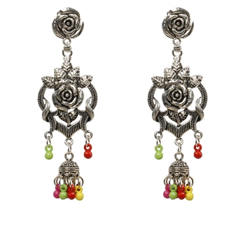 Stylish Multicolor Rose Flower Earrings