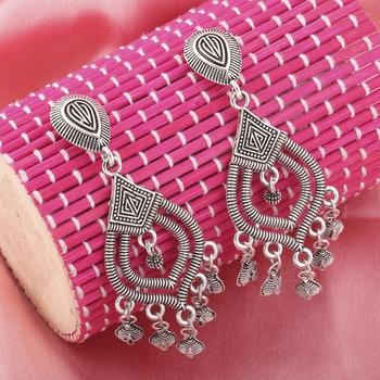 Charming Silver Multi Dangle Drop Earrings