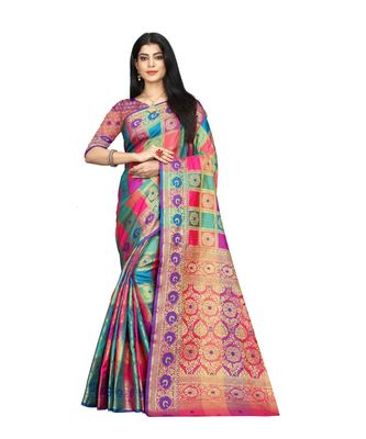 Women   s EriSilk Designer Saree with Patola Design