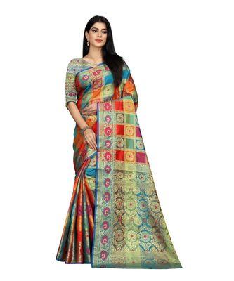 Women's EriSilk Designer Saree with Patola Design