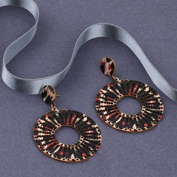 Attractive Ethnic Drop  Wooden Earrings Light Weight for Girls and Women.