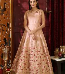 Peach sequins silk salwar