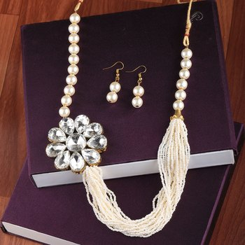 Exclusive Traditional Multi Layer Pearl Mala Set For Women And Girls