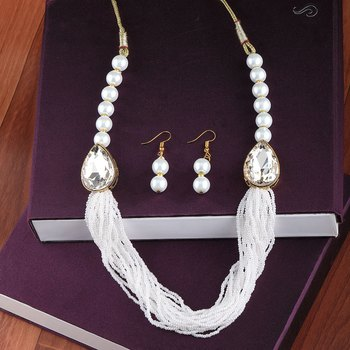 Exclusive Designer Traditional Multi Layer Pearl Mala Set For Women And Girls