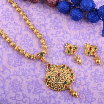 Goldplated Designer Traditional Diamond  Necklace set  for women jewellery