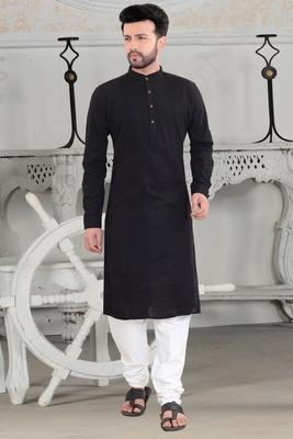 blue stylish and fancy pleats kurta set
