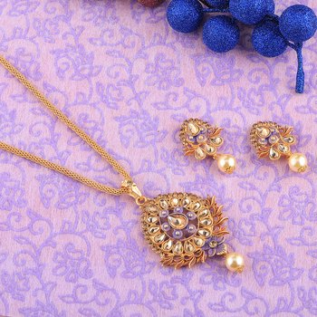 Designer Goldplated Traditional Necklace Pendant  set  for women jewellery