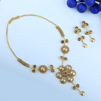 Traditional Goldplated Party wear Necklace set  for women And girls