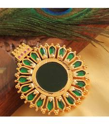 Beautiful Gold Tone Green Nagapadam Kerala Style Pendant