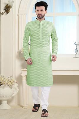 Green Stylish And Fancy Embroidery Kurta