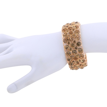 Attractive Gold Plated Free size Bracelet for Girls Women