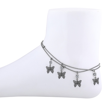 Elegant Butterfly Design Delicate Anklet For Girl Women