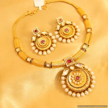 Royal Kundan Meenakari Ruby Necklace
