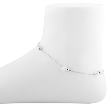 Delicate Silver Plated Pearl Anklet For Women Girl