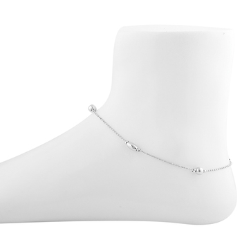 Charm Anklet Silver Plated For Women Girl