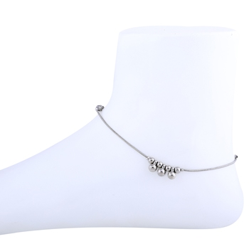 Silver Plated Adjustable Single line Delicated Anklet For women Girl