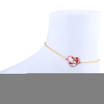 Antique Gold Plated Heart Pandent Shape Anklet For Women Girl