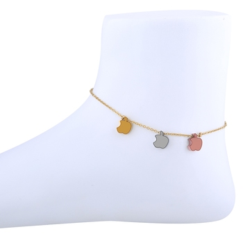 Delicted Apple Shape Designer single Anklet For Women Girl
