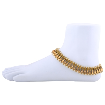 Exclusive Golden Kundan Anklet for Women And Girl