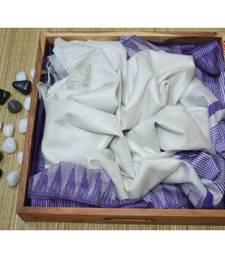 Wight Hand Woven Poly Silk Handloom Sarees