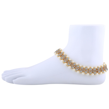 Charm designer gold Plated Anklet For Women And Girl.