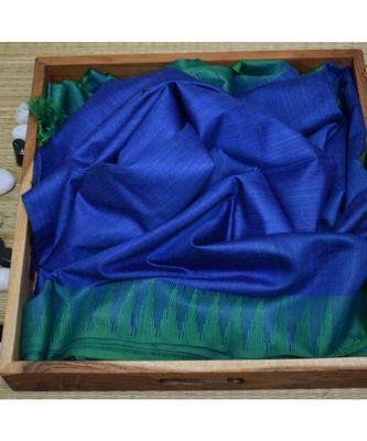 dark blue hand woven poly silk handloom sarees