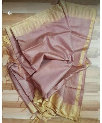 light violet hand woven poly silk handloom sarees