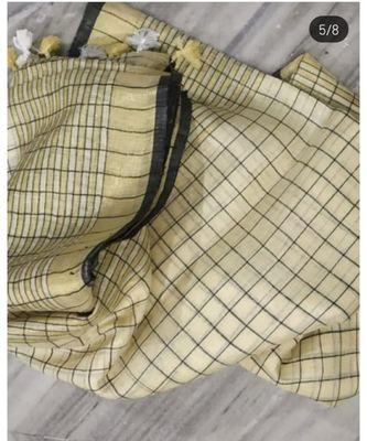 cream woven linen handloom saree with blouses