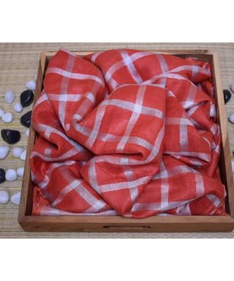 red woven linen handloom saree with blouses