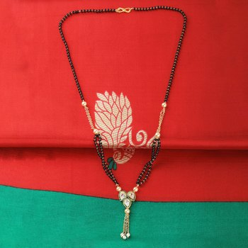 Party Wear Designer Gold Plated Mangalsutra For Women