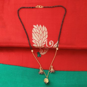 Attractive Gold Plated Chain Pandent Designer Mangalsutra For Women