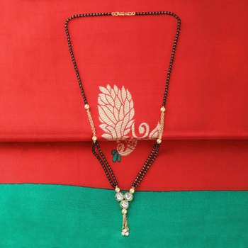Traditional Gold Plated Designer Pandent Mangalsutra For Women