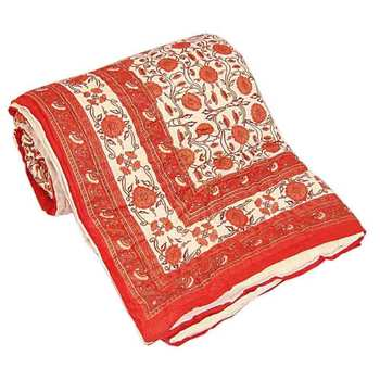 orange cotton Handcrafted Jaipuri Razai (Quilt)