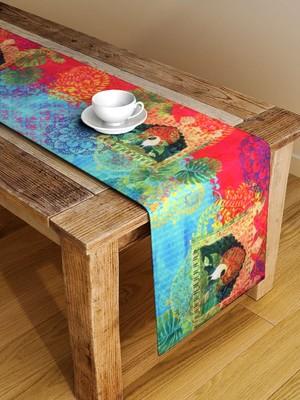 Houzzcode Multicoloured Printed Table Runner 38cm x 182cm