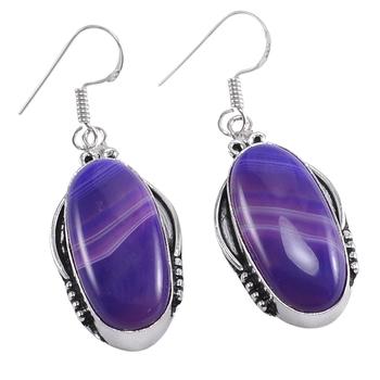 Purple agate earrings