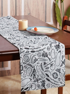 Houzzcode Vegetable Lovers Printed Table Runner 30cmx180cm
