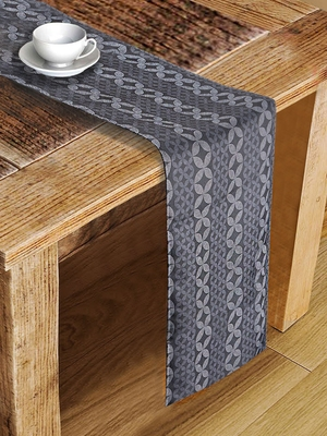 Houzzcode Textured Abstract Printed Table Runner 30cm x 180cm