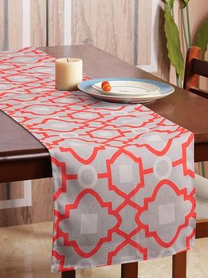 Houzzcode Morroccon Orange Outline Table Runner 30cm x 180cm