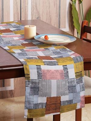 Houzzcode Stripe Box Printed Table Runner 30cm x 180cm
