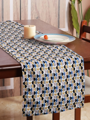 Houzzcode Half Circle Printed Table Runner 30cm x 180cm