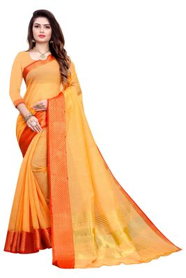 Peach woven manipuri silk saree with blouse