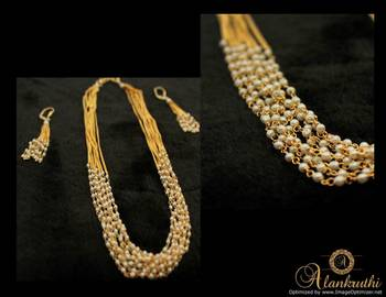 Alankruthi 8 Line Pearl Necklace Set 2
