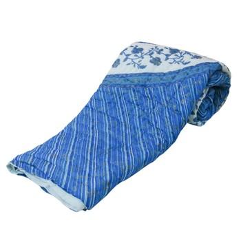 blue cotton Handcrafted Jaipuri Razai (Quilt)