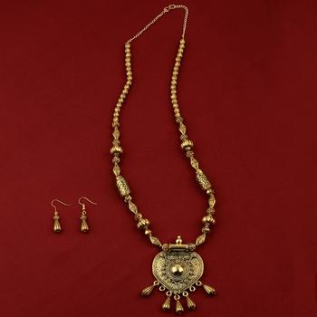 Designer Attractive Adjustable  Gold Plated Designer Pendant Set For Women Girl