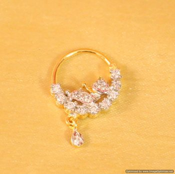 2056da3dbdcf6 Diamond look marathi nose ring