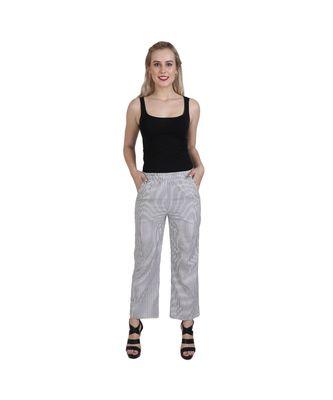 grey plain Cotton trousers